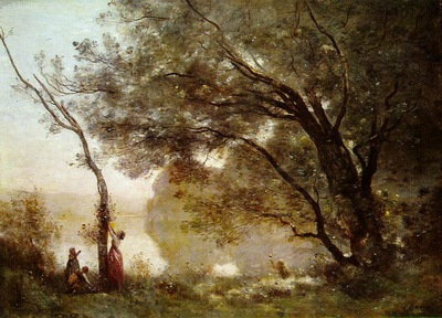 Corot Souvenir of Mortefontaine, 1864, Louvre