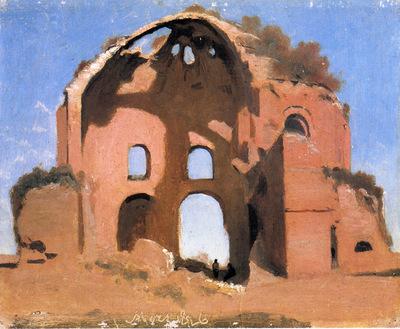 Corot Temple of Minerva Medica Rome
