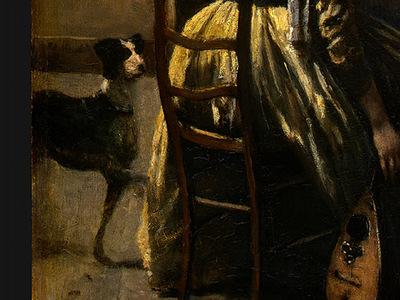 Corot The Artists Studio, c  1855 1860, Detalj 4, NG Washin