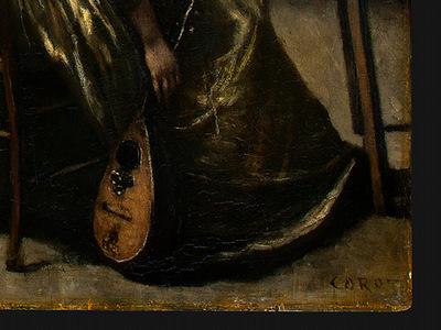 Corot The Artists Studio, c  1855 1860, Detalj 5, NG Washin