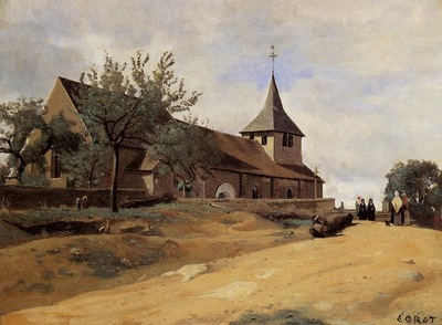 Corot The Church at Lormes
