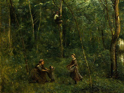 Corot The Eel Gatherers, c  1860 1865, Detalj 1, NG Washingt