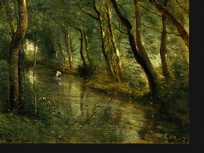 Corot The Eel Gatherers, c  1860 1865, Detalj 4, NG Washingt
