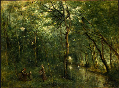 Corot The Eel Gatherers, c  1860 1865, NG Washington
