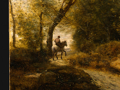 Corot The Forest of Coubron, 1872, Detalj 2, NG Washington
