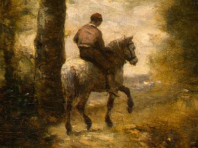 Corot The Forest of Coubron, 1872, Detalj 3, NG Washington