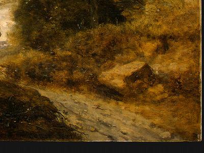 Corot The Forest of Coubron, 1872, Detalj 4, NG Washington