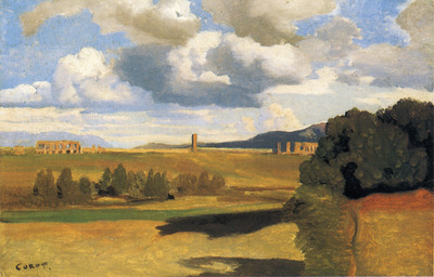 Corot The Roman Campaagna with the Claudian Aqueduct