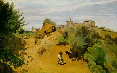 Corot The goat herd of Genzano, 1843, The Phillips Collectio