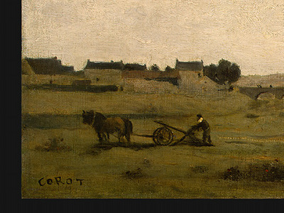 Corot View near Epernon, 1850 1860, Detalj 1, NG Washington