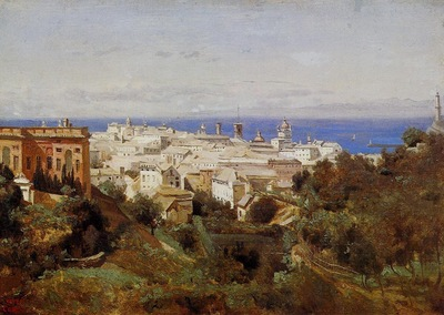 Corot View of Genoa from the Promenade of Acqua Sola