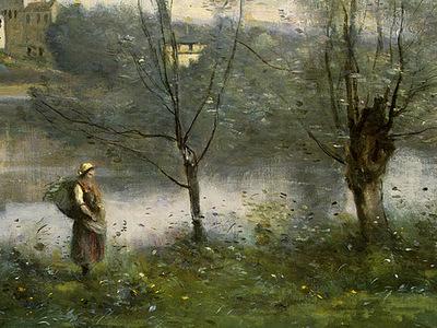 Corot Ville dAvray, c  1867 1870, Detalj 2, NG Washington