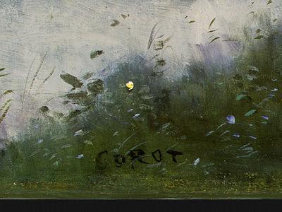 Corot Ville dAvray, c  1867 1870, Detalj 5, NG Washington