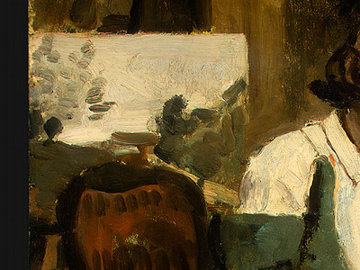 Corot Young Girl Reading, 1868 1870, Detalj 2, NG Washington