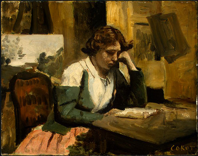 Corot Young Girl Reading, 1868 1870, NG Washington