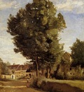 Corot A Village near Beauvais