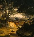 Corot Forest of Fontainebleau, c  1830, Detalj 2, NG Washing
