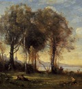 Corot Goatherds on the Borromean Islands