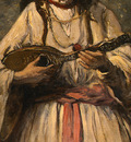corot gypsy girl with mandolin, probably c  1870 1875, det