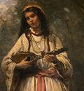 Corot Gypsy Girl with Mandolin, probably c  1870 1875, Detal