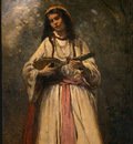 Corot Gypsy Girl with Mandolin, probably c  1870 1875, NG Wa