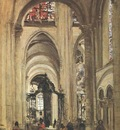 Corot Interior of Sens Cathedral, 1874, Louvre