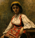 Corot Italian Girl, c  1871 1872, Detalj 1, NG Washington