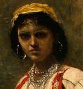 Corot Italian Girl, c  1871 1872, Detalj 2, NG Washington