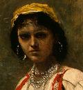 Corot Italian Girl, c  1871 1872, Detalj 2, NG Washington