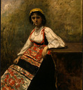 Corot Italian Girl, c  1871 1872, NG Washington