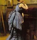 Corot Lady in blue, 1874, Musee du Louvre, Paris
