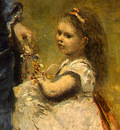 Corot Madame Stumpf and Her Daughter, 1872, Detalj 4, NG Was