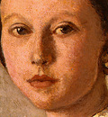 Corot Portrait of a Young Girl, 1859, Detalj 2, NG Washingto