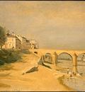 Corot River Scene with Bridge, 1834, NG Washington