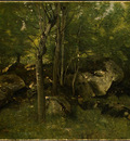 Corot Rocks in the Forest of Fontainebleau, 1860 1865, NG Wa
