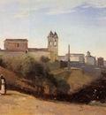 Corot Rome Monte Pinco the Trinita dei Monte View from the Garden of the Academie de France