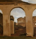 Corot Rome The Coliseum Seen through Arches of the Basilica of Constantine