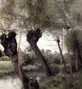 Corot Saint Nicholas les Arras Willows on the Banks of the Scarpe