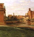 Corot The Arch of Constantine and the Forum, Rome, 1843, 27x