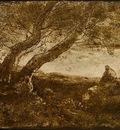 Corot The Dreamer Le Songeur , 1854, NG Washington