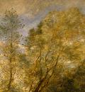 Corot The Forest of Coubron, 1872, Detalj 1, NG Washington