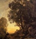 Corot The Italian Goatherd Evening