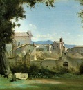 Corot View from the Farnese gardens, Rome, 1826, 25 1x40 6 c