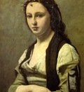 Corot Woman with a Pearl 70x55 Louvre Paris