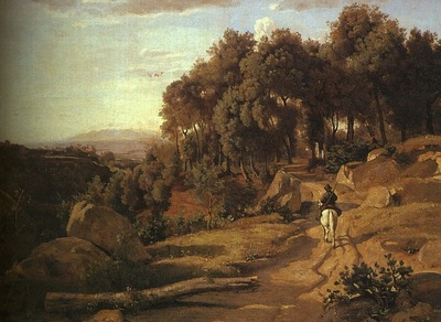 COROT A VIEW NEAR VOLTERRA, 1838, OIL ON CANVAS