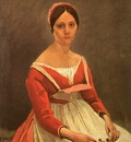 COROT PORTRAIT OF MME  LEGOIS, 1838, OIL ON CANVAS