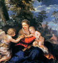 Cortona de Pietro The holy family Sun