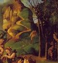 piero di cosimo the discovery of honey, detalj 1, ca 1505