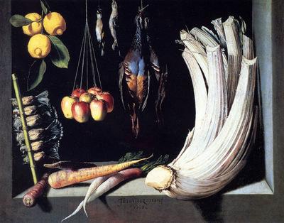 Cotan Juan Sanchez Still Life With Dead Birds Fruit And Vegetables