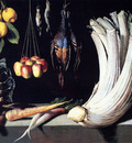 Cotan Juan Sanchez Still Life With Dead Birds Fruit And Vegetables
